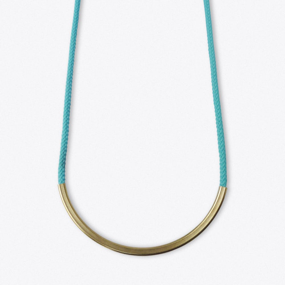 Cupola Necklace In Aqua