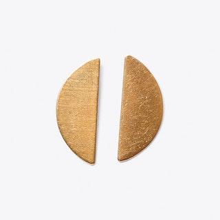 Segement Drop Stud Earrings