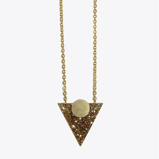 Mars Necklace in Gold Glitter