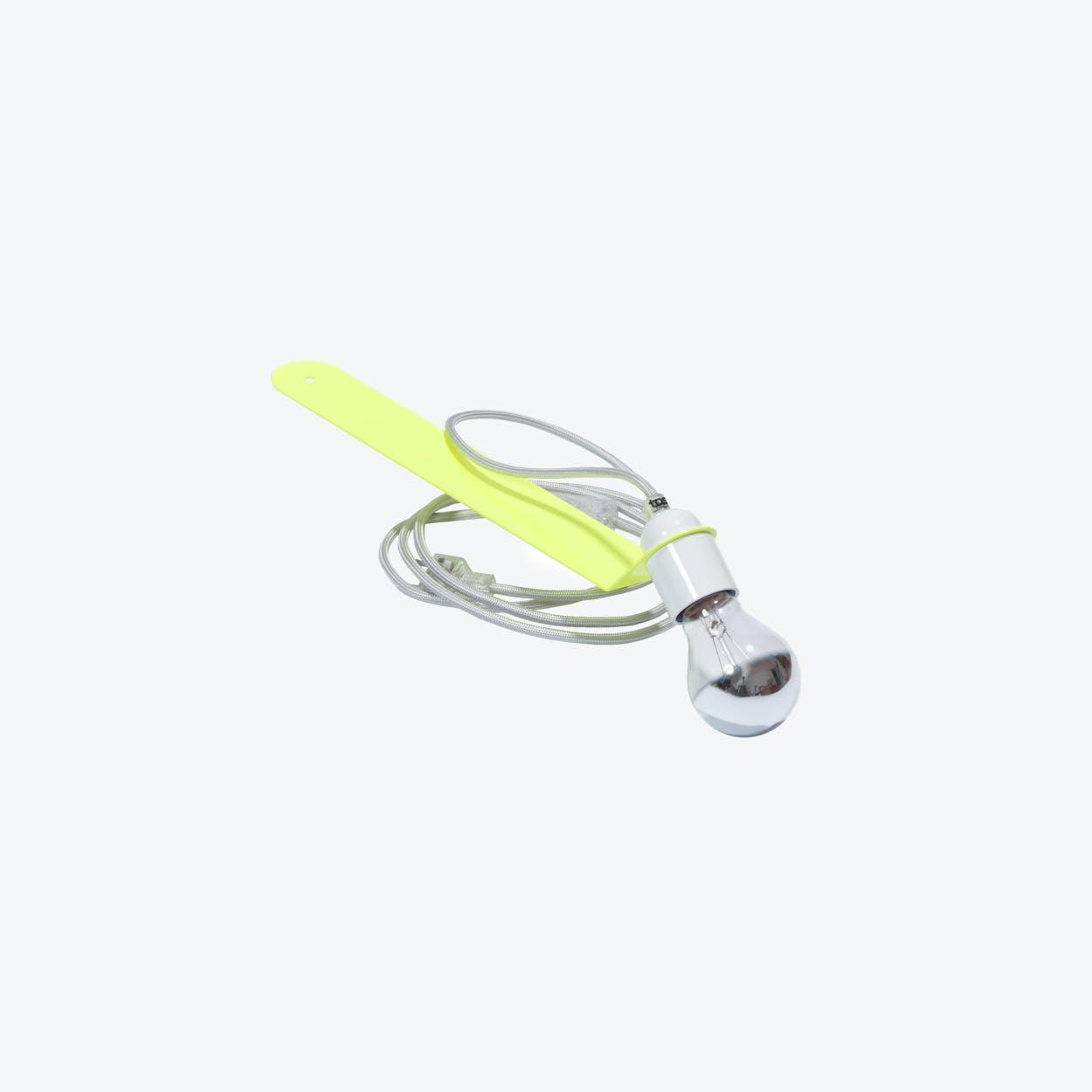 Skipper Sliding Shelf Lamp in Neon-Yellow/White