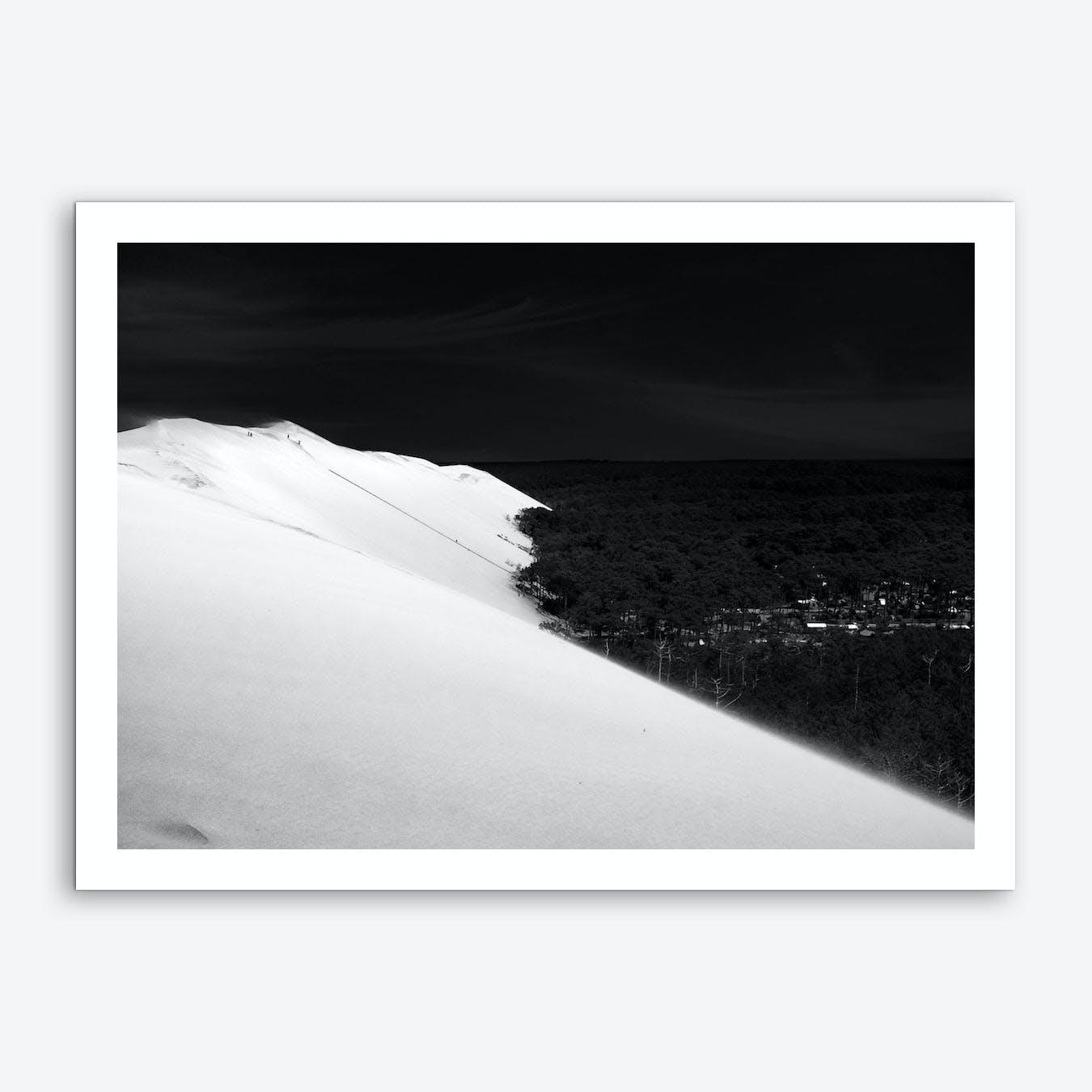 Dunedu Pilat BW Horizontal Art Print