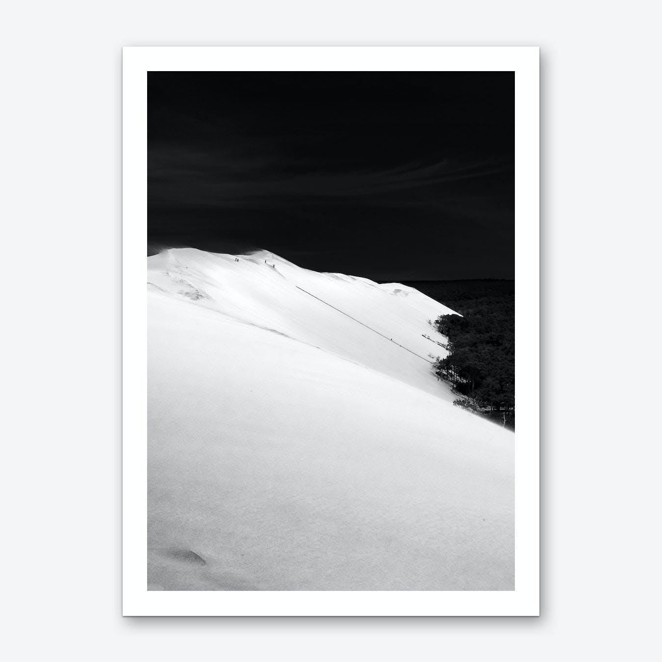 Dunedu Pilat BW Vertical Art Print
