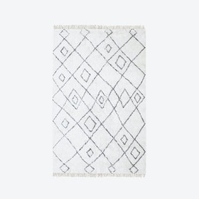ERVIN Rug in Ivory/Charcoal