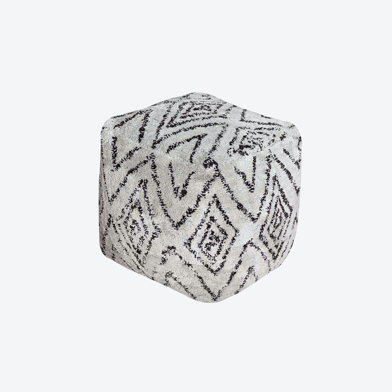 NOAH Pouf in Grey/Charcoal (40x40x40)