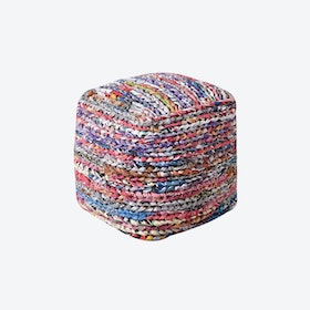 MILA Pouf in Multi-Color (40x40x40)