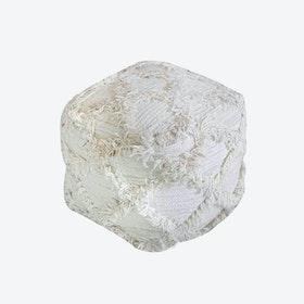 JACUR Pouf in Ivory (40x40x40)