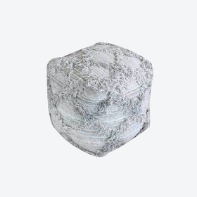 JACUR Pouf in Grey (40x40x40)
