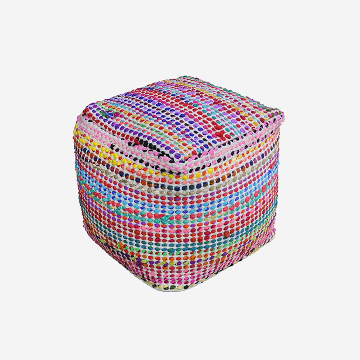 MADRID Pouf in Ecru (40x40x40)
