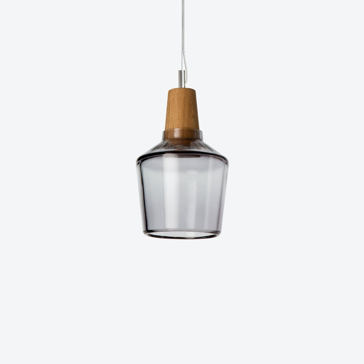 Industrial Pendant Light Ø15 in Anthracite Crystal Glass