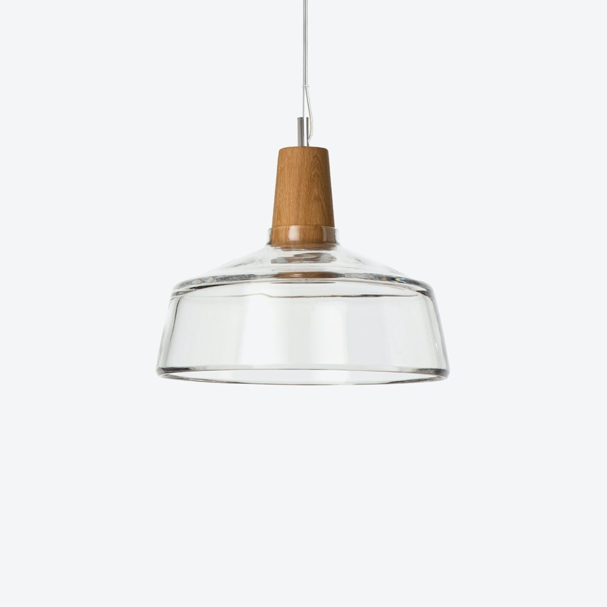 Industrial Pendant Light Ø26 in Clear Crystal Glass