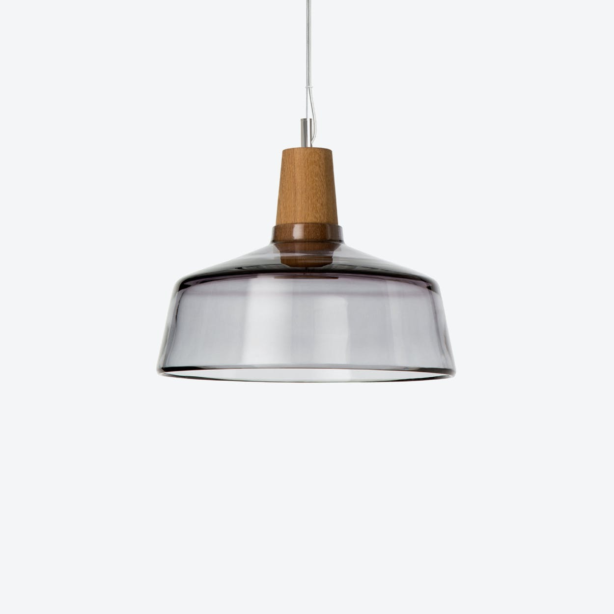 Industrial Pendant Light Ø26 in Anthracite Crystal Glass