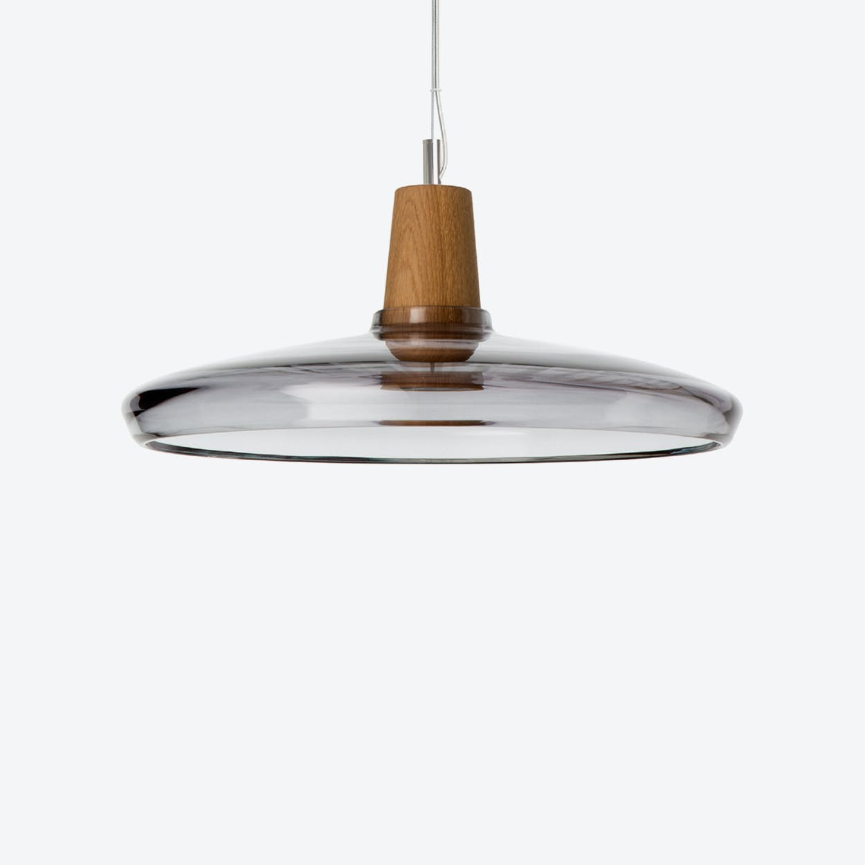 Industrial Pendant Light Ø36 in Anthracite Crystal Glass
