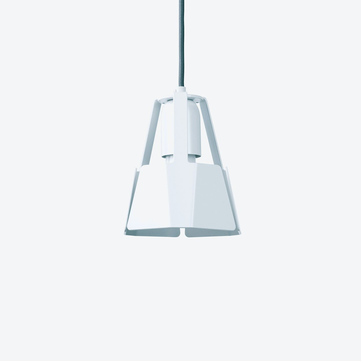 Beat Pendant Light Ø14 in White