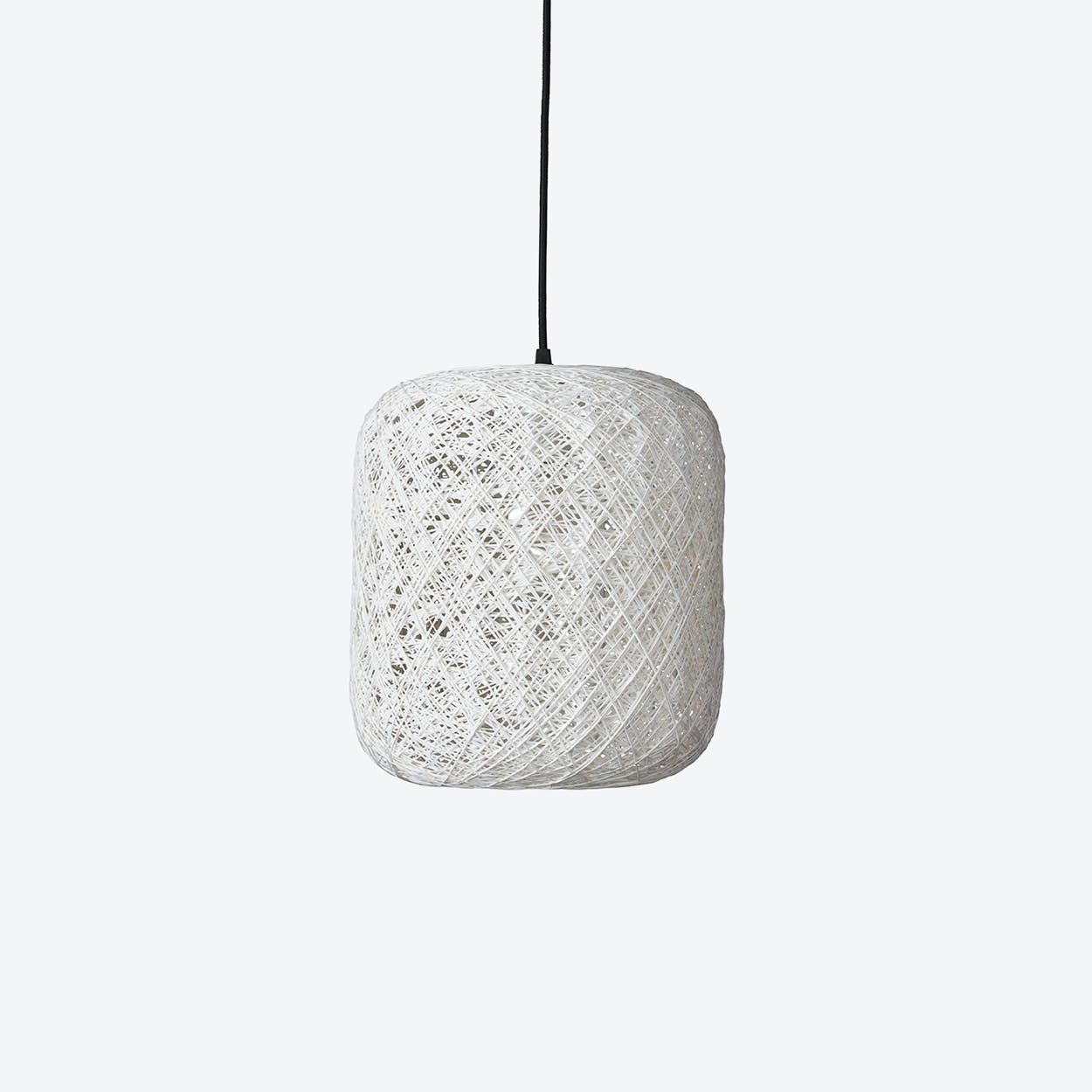 Small Spin Pendant Lamp in White
