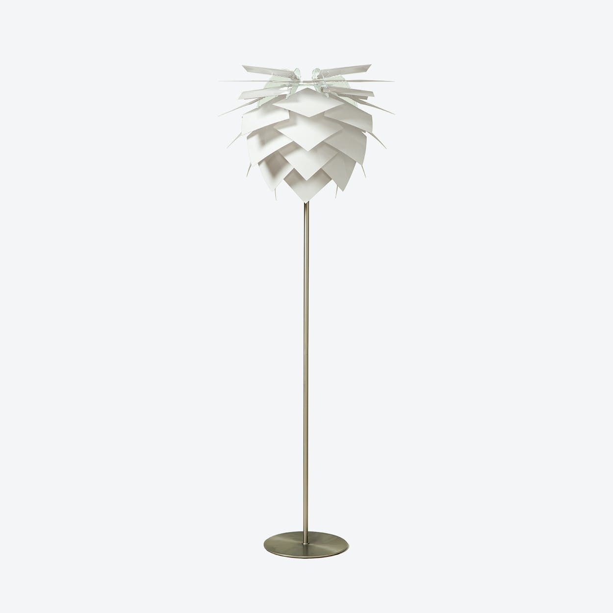 Medium PineApple White Floor Lamp in Matte Satin Finish