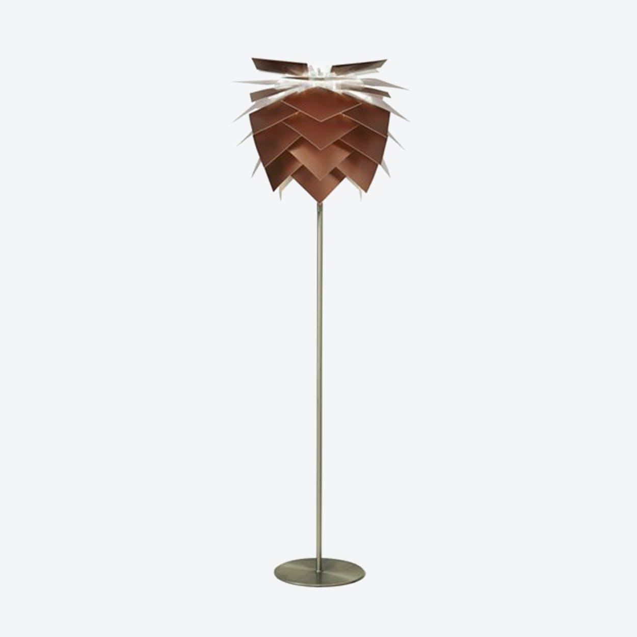 Medium PineApple Copper Look Floor Lamp in Matte Satin Finish