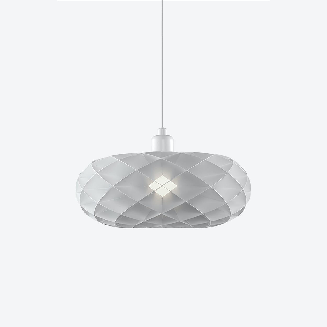 Torus Pendant Lamp with White Top