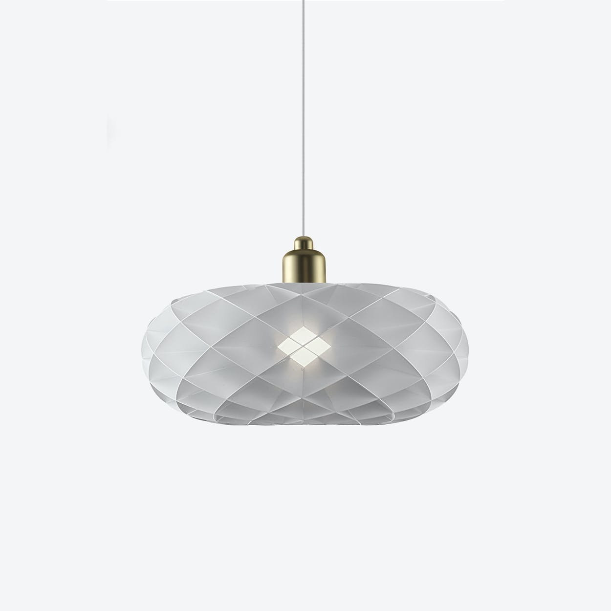 Torus Pendant Lamp with Matte Brass Top