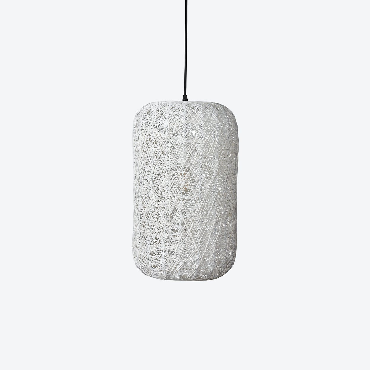 Medium Spin Pendant Lamp in White