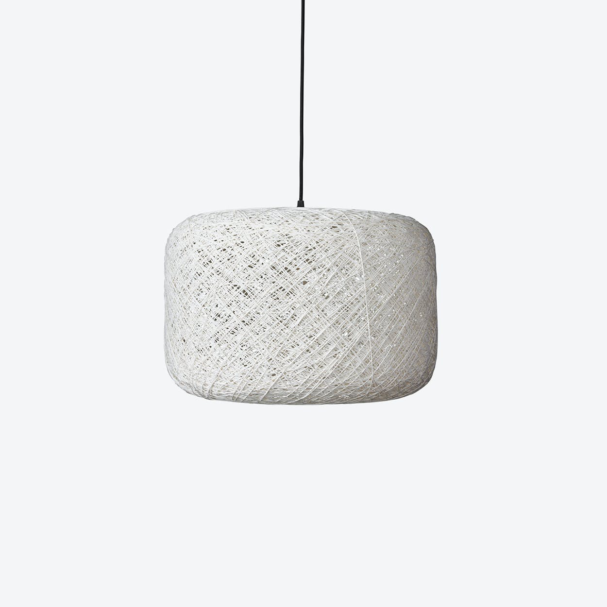 Large Spin Pendant Lamp in White