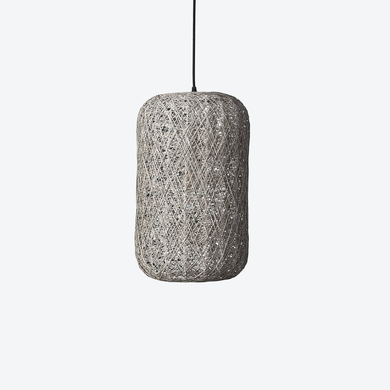 Medium Spin Pendant Lamp in Grey