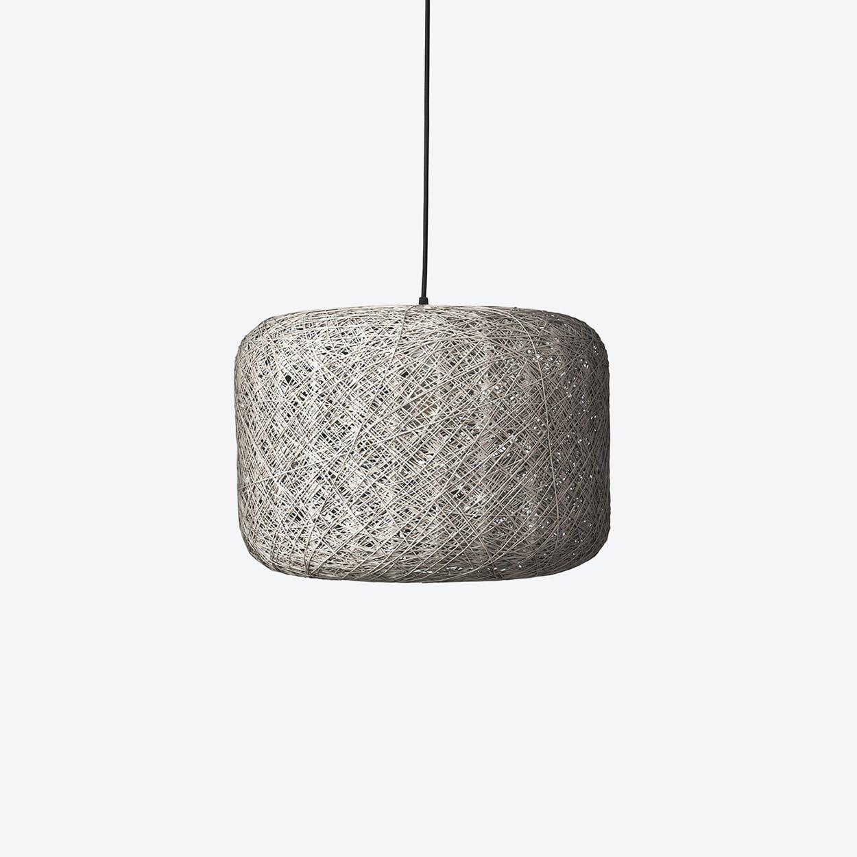 Large Spin Pendant Lamp in Grey