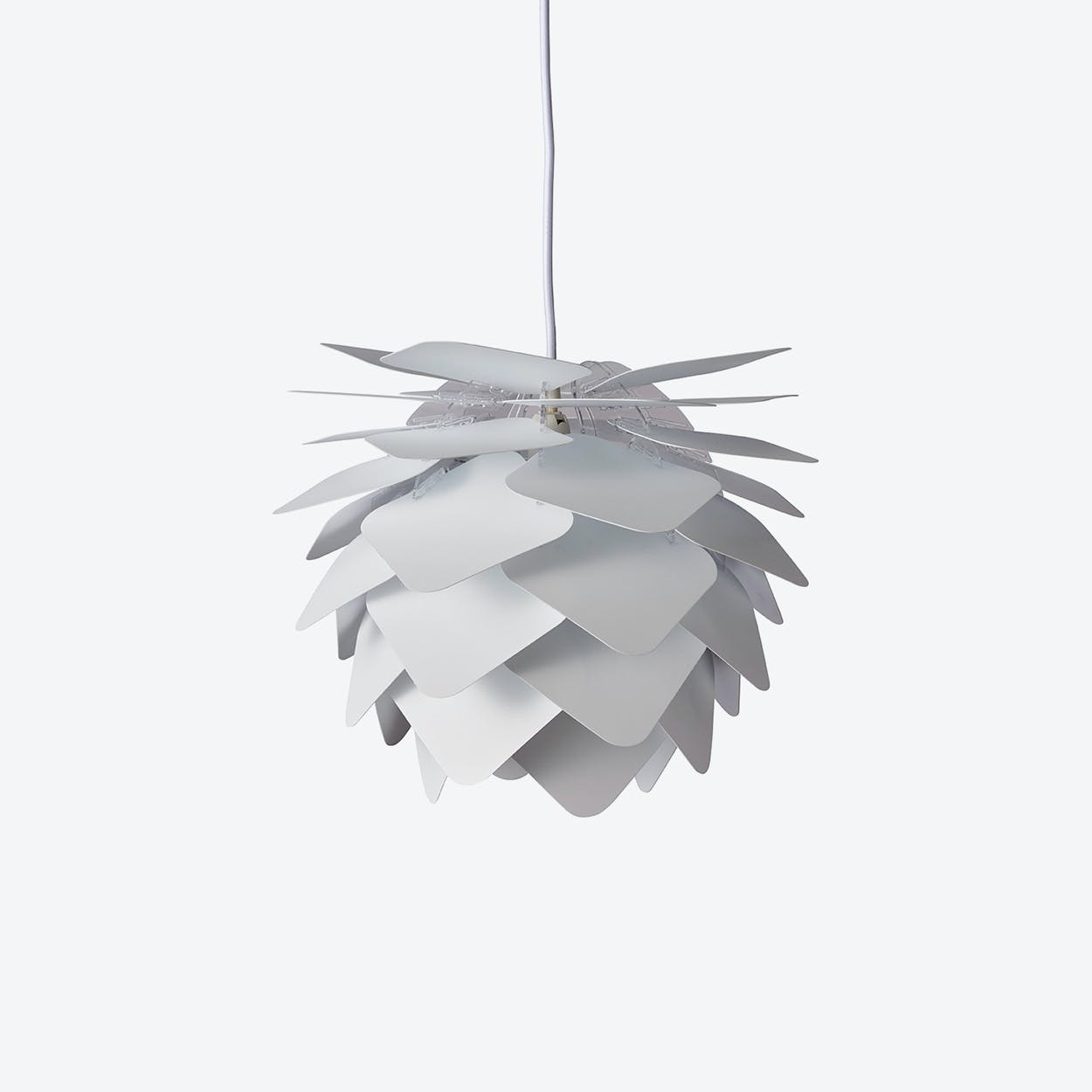 Round Square Pendant Lamp in White