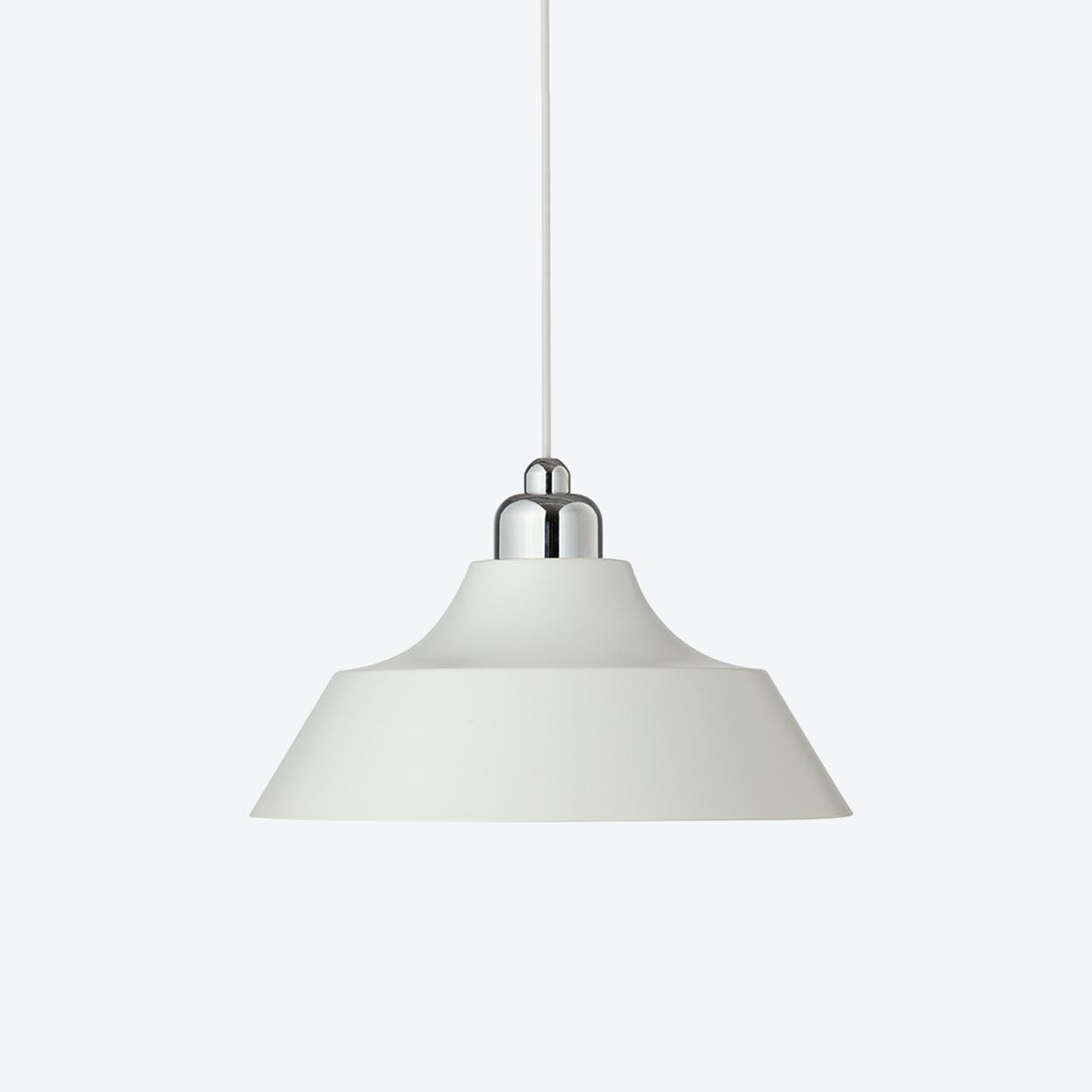 Momentum White Pendant with Chrome Top