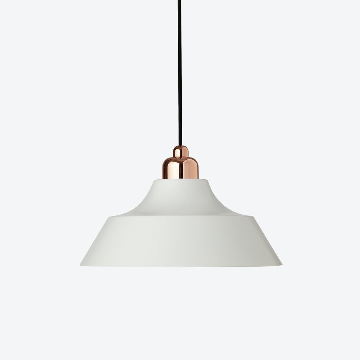 Momentum White Pendant with Copper Top