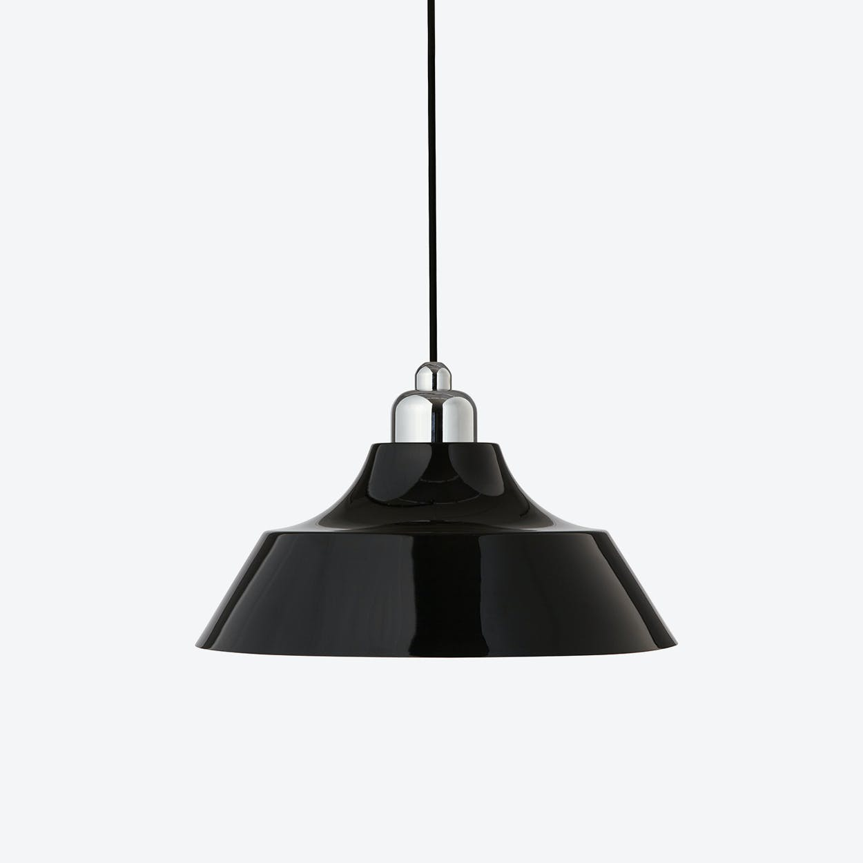 Momentum Black Pendant with Chrome Top