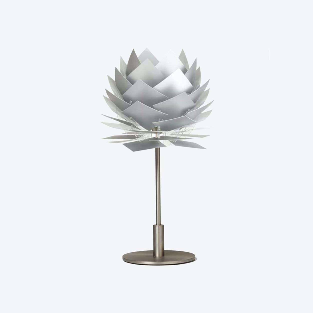 XS PineApple Table Lamp in Aluminium Look