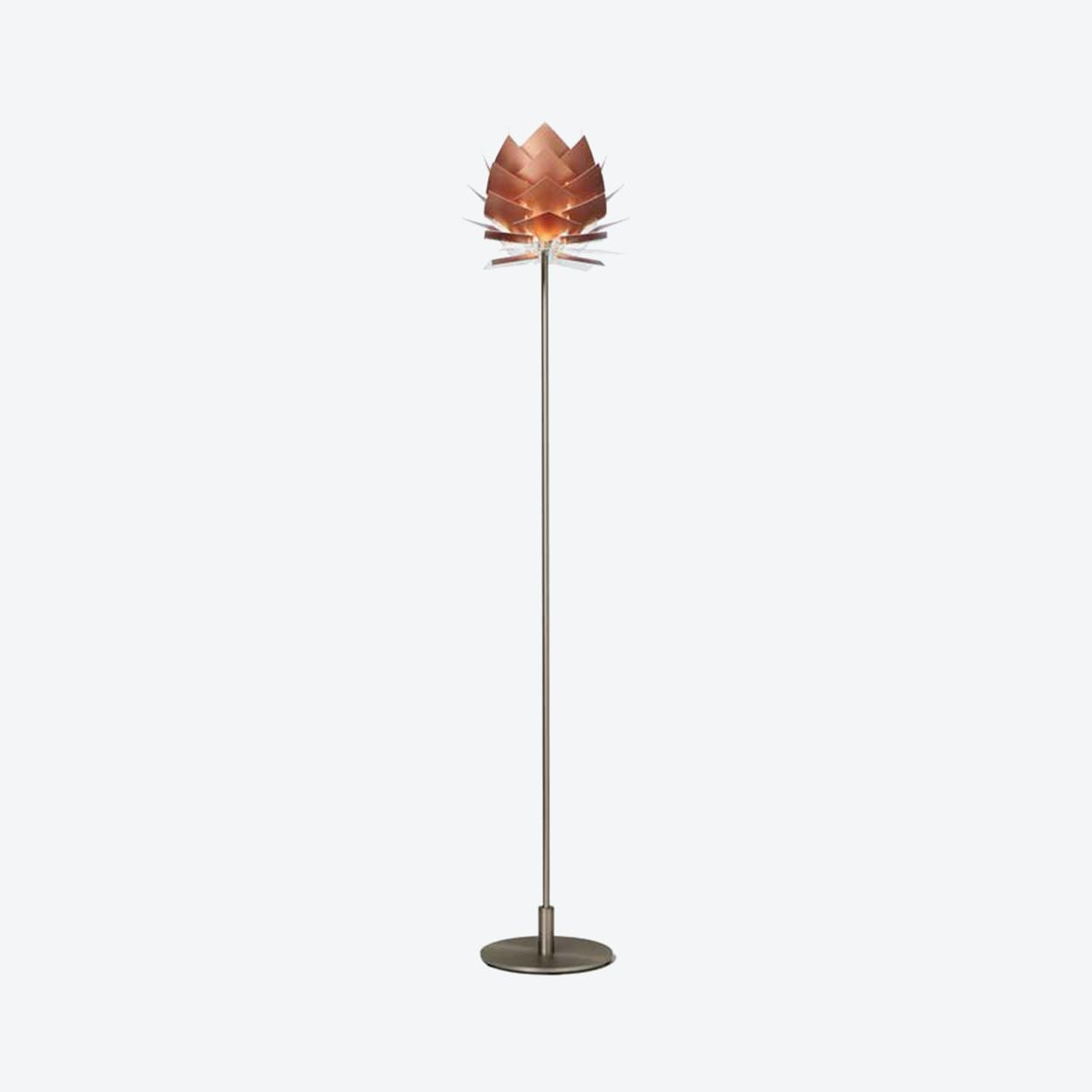 XS PineApple Floor Lamp in Copper Look
