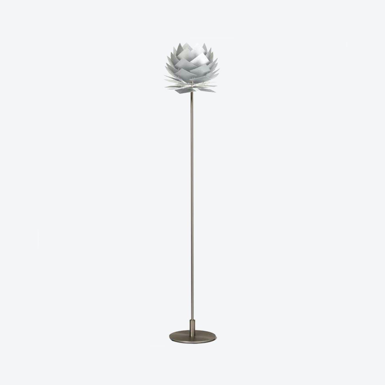 XS PineApple Floor Lamp in Aluminium Look