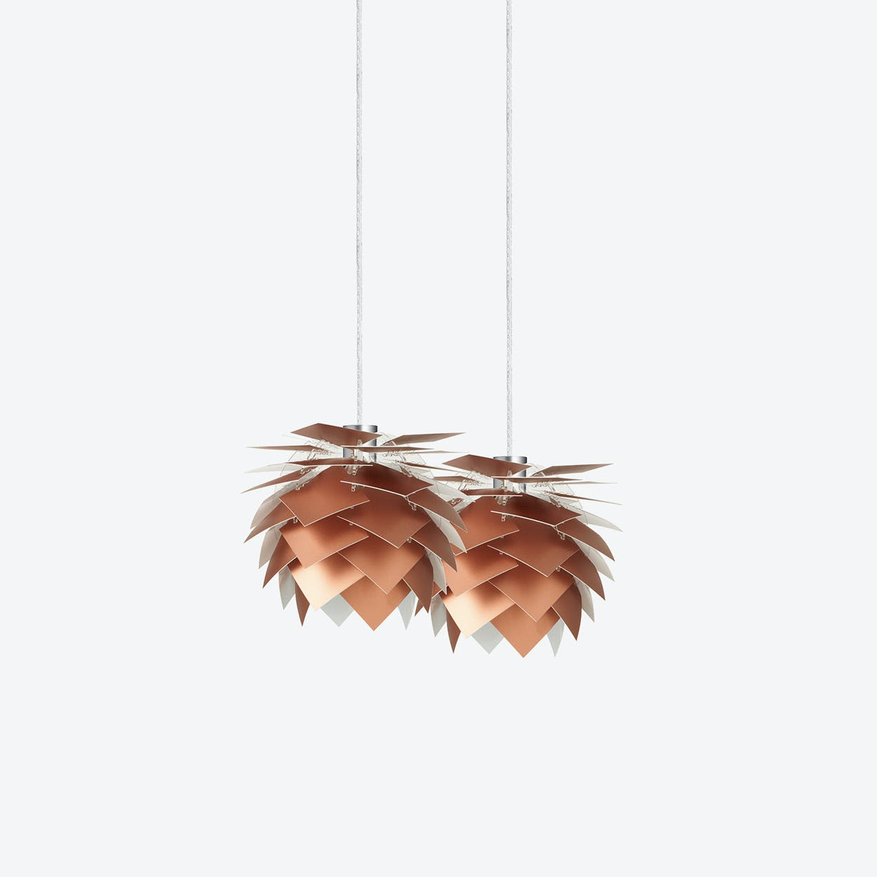 XS PineApple Set of Pendants in Copper Look