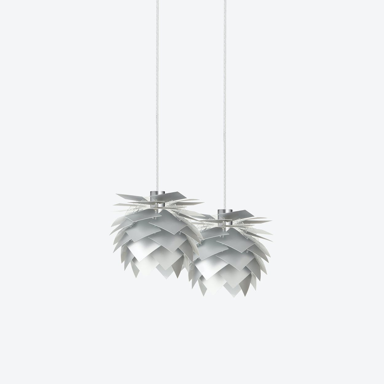 XS PineApple Set of Pendants in Aluminium Look