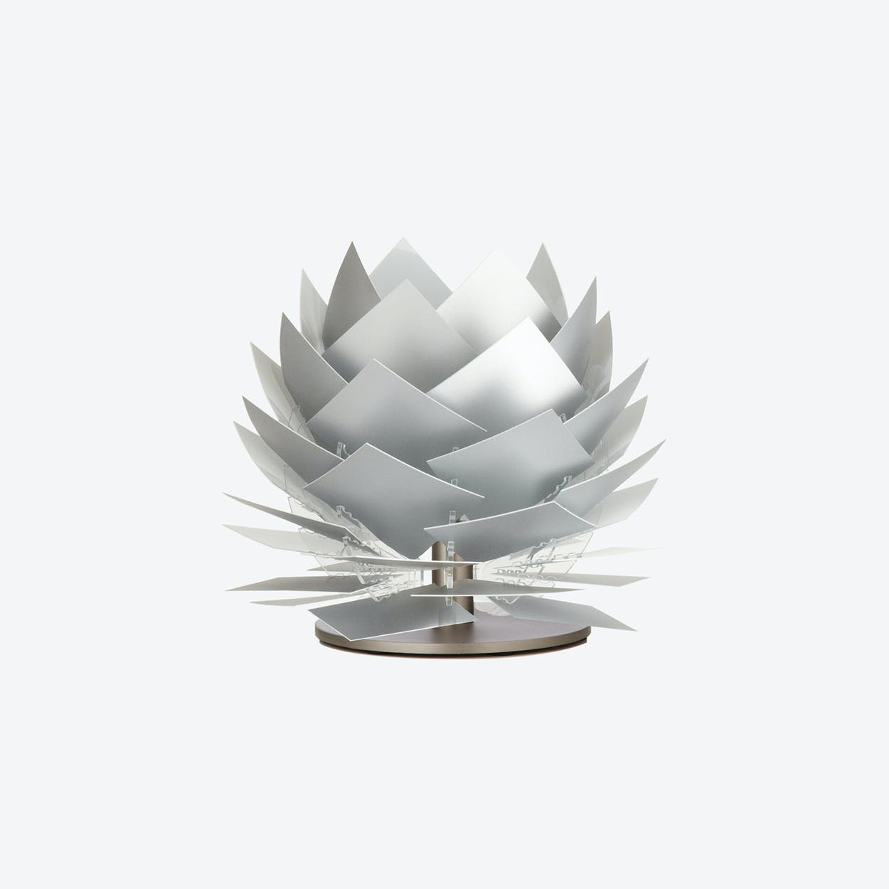 XS PineApple Low Table Lamp in Aluminium Look