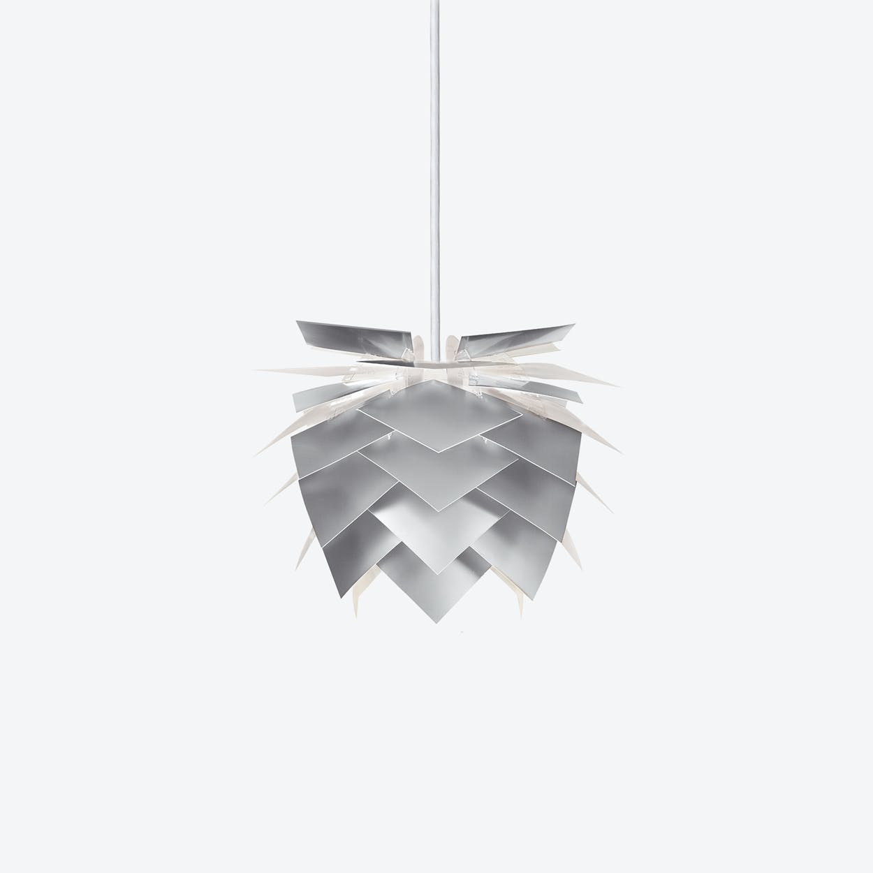 PineApple Inbetween Pendant Lamp in Aluminium Look