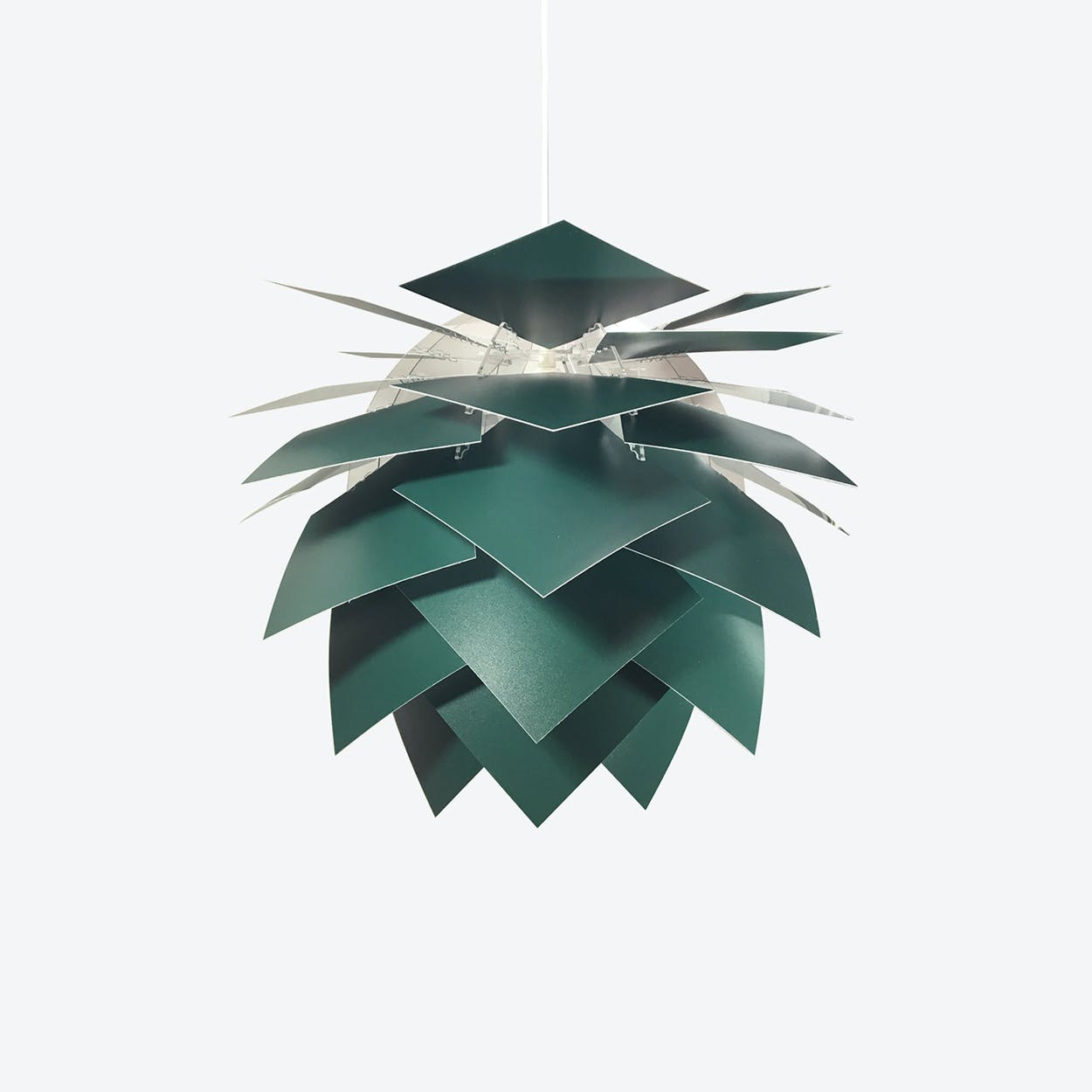 Special Edition Medium PineApple Pendant in Dark Green