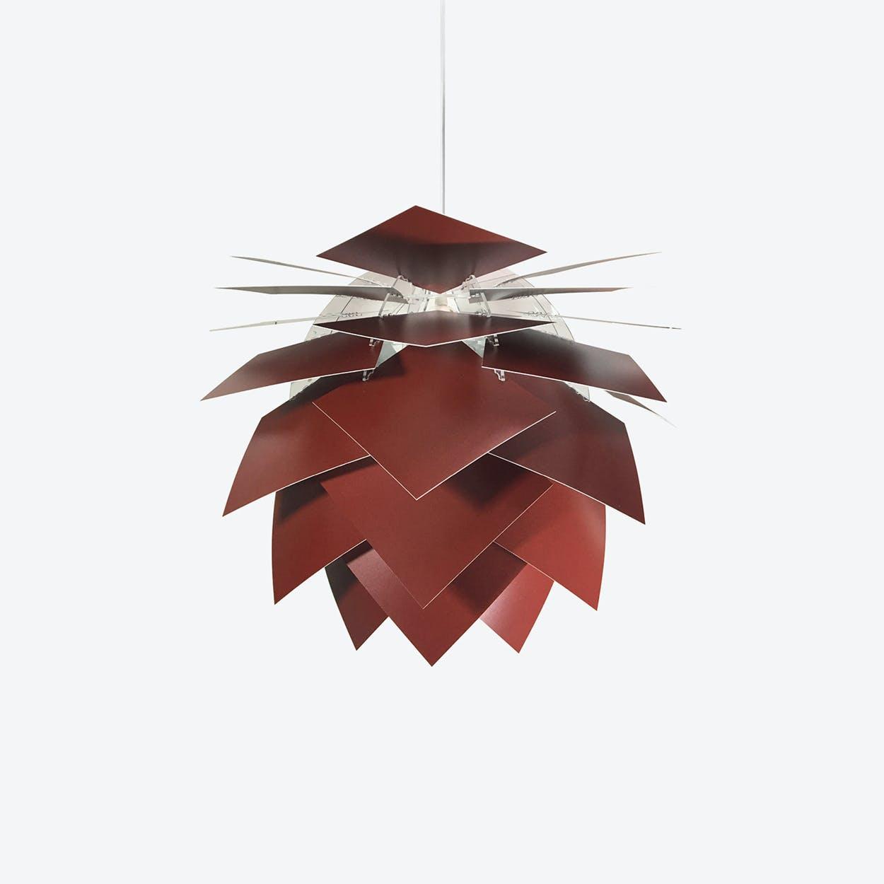 Special Edition Medium PineApple Pendant in Dark Red