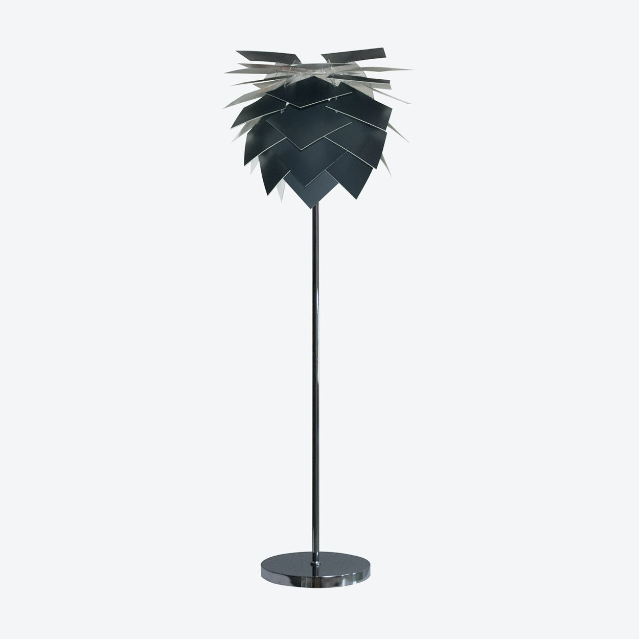 Special Edition Medium Black Anthracite Grey PineApple Floor Lamp in Matte Satin Finish