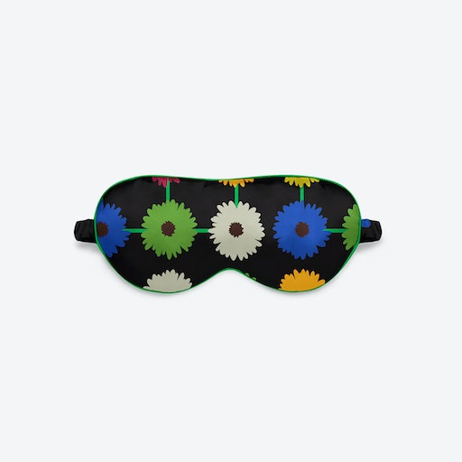 Luxury Silk Eye Mask - Multi Bloom Dark