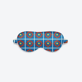 Luxury Silk Eye Mask - Blue Coco