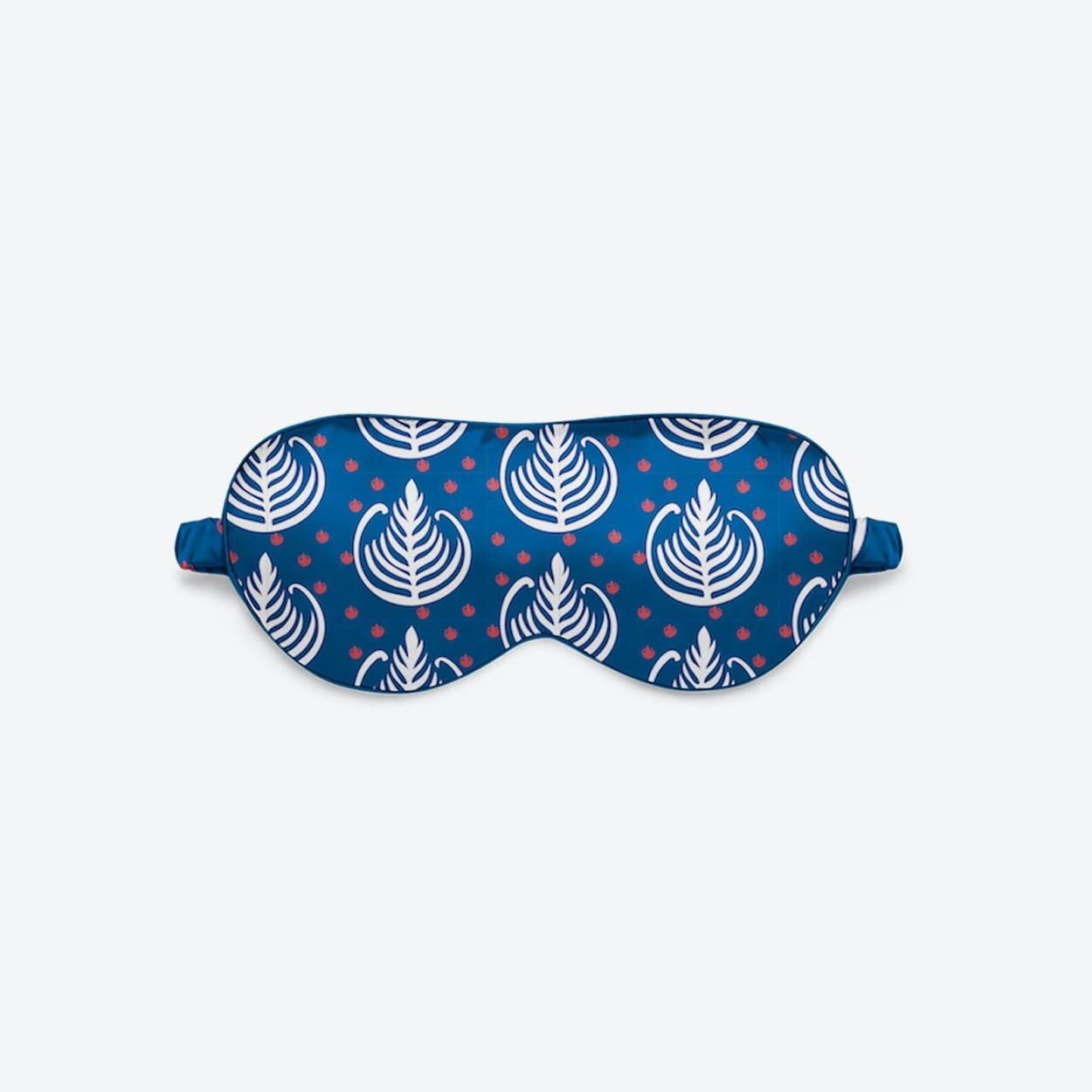 Luxury Silk Eye Mask - Blue Wakie