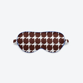 Luxury Silk Eye Mask - Blue Chocolate
