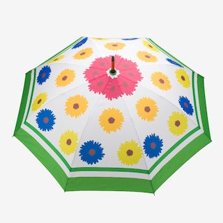 Windproof Auto Open Large Umbrella in Multi Bloom Design