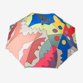 Windproof Auto Open Large Umbrella in Multi Colour Ada Design