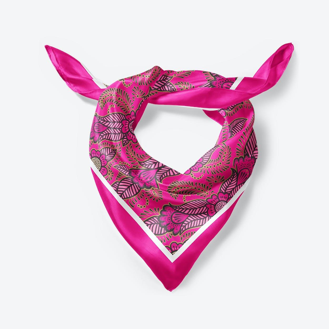 Pink Henna Large Square Silk Scarf 90cm