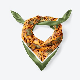 Orange Henna Large Square Silk Scarf 90cm
