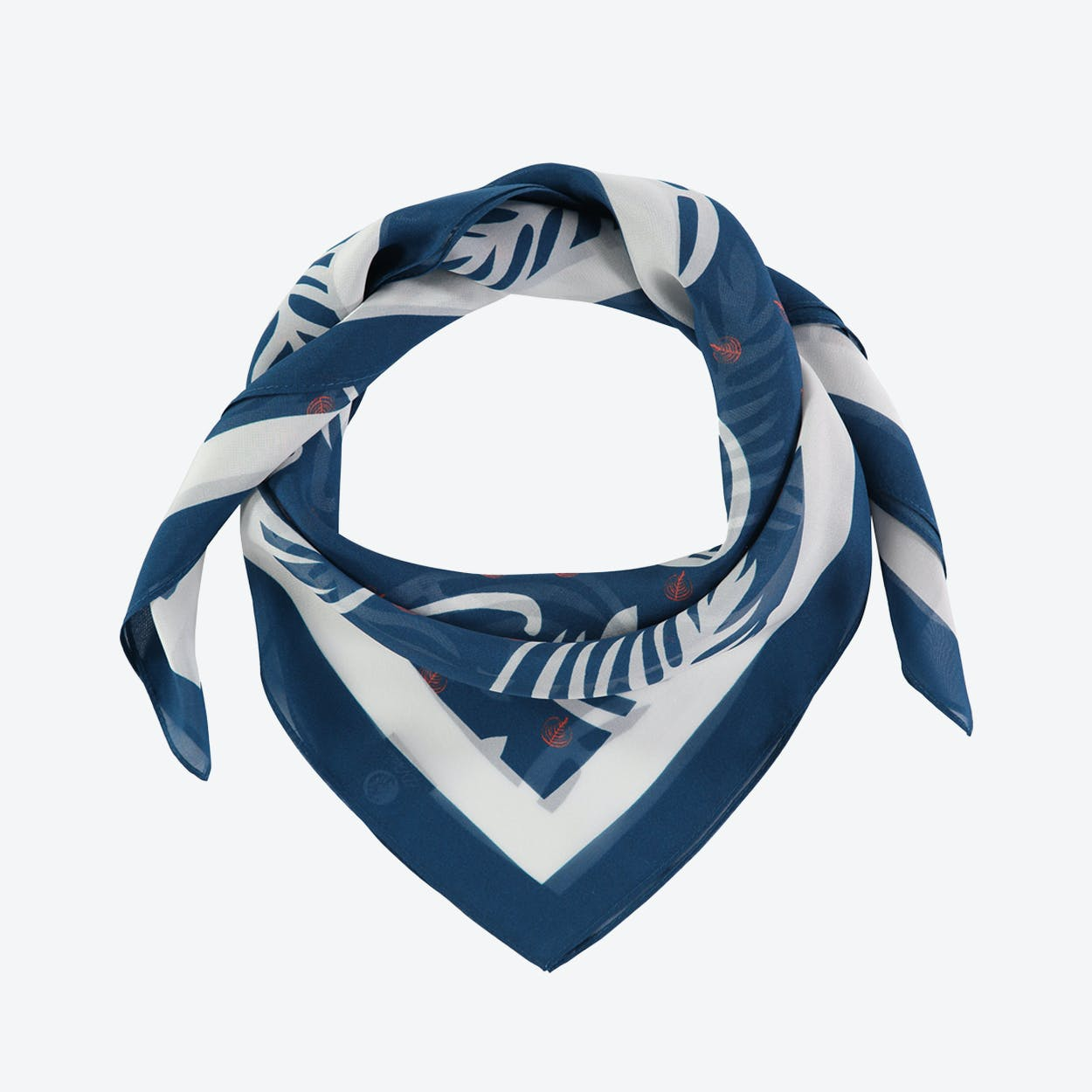 Blue Wakie Large Square Silk Scarf 90cm