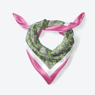 Pink Lilies Large Square Silk Scarf 90cm
